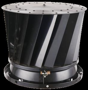 zwarte ventilatie buis